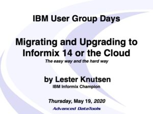 Informix 14 Migrating and Upgrading