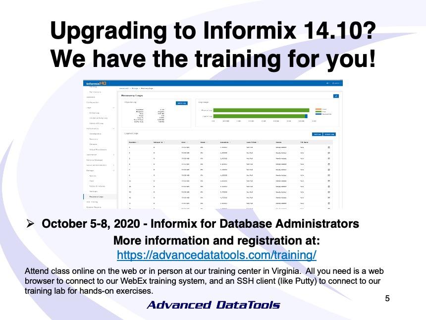 Informix Training